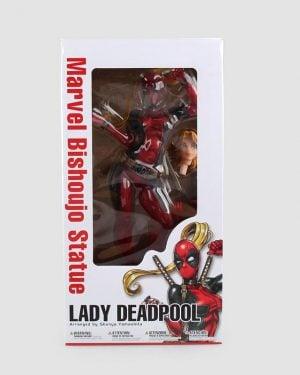 figura lady deadpool caja