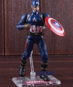 figura capitán américa en acción