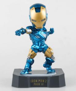 figura iron man vi azul