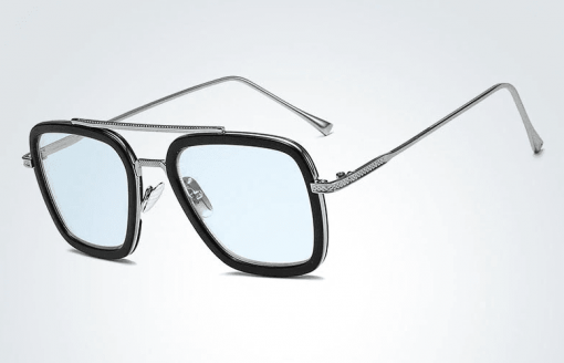 gafas tony stark silver azul